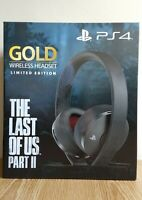THE LAST OF US PART 2 II LIMITED EDITION GOLD WIRELESS HEADSET | NEW