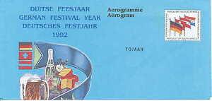 South Africa/Südafrika     unused Festival Airletter from 1992