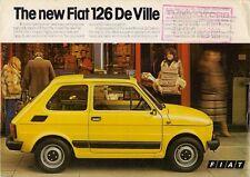FIAT 126 DE VILLE 594cc 1977 UK lancio sul mercato opuscolo brochure di vendita