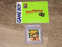 Bomberman GB w/Manual Nintendo Game Boy Cleaned & Tested Authentic