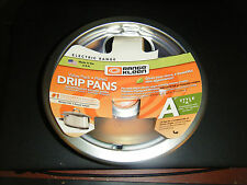 Pack of 2 Range Kleen Style A Brushed Chrome Electric Range Drip Pans - New