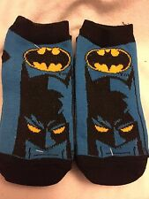 Batman 6 Pair Socks Boys Size 6 - 8.5 NEW