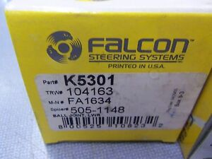 Suspension Ball Joint Front Lower Falcon Steering K5301 L@@K FREE Ship!!