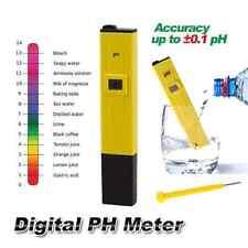 Digital PH Meter Tester Pocket Portable Pool Water Aquarium Hydroponic Wine New
