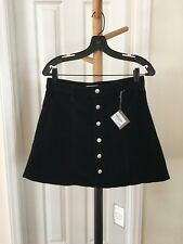 68acb33df3 NWT Alexa Chung for AG Womens Navy Corduroy Solid A-Line Skirt 30