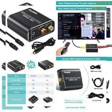 Digital to Analog Audio Converter-192kHz Techole Aluminum Optical Black