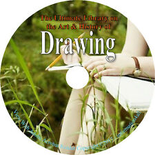Drawing Draw Sketch Paint Artist How to Art Manual - 75 Vintage Books on DVD