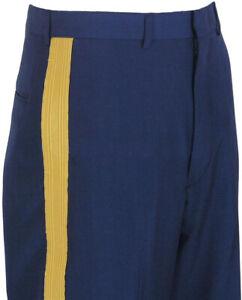 US Army Men's ASU Dress Blues Service Uniform Braided Trousers/Pants/Slacks