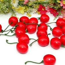 20Pcs/Bag Reusable Lifelike Simulation Small Cherries Artificial Fruit Model r