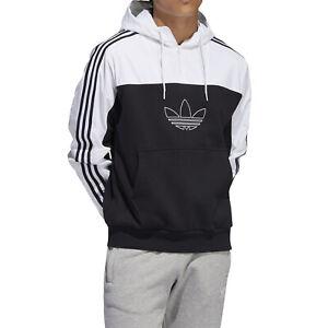 adidas New Men's Trefoil Mixed Outline Training Hoodie - Black/White