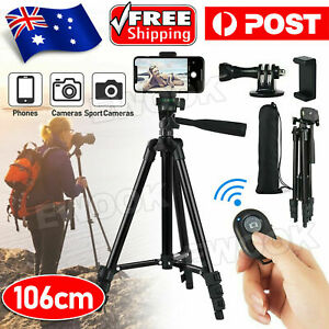Professional Camera Tripod Stand Mount Phone Holder For iPhone DSLR Travel AU