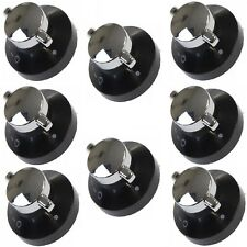 8 X Stoves Oven Gas Control Knobs Hob Cooker Flame Switch Chrome Black Silver