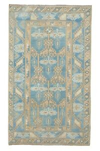 """ative Soft Muted Color Turkish Oushak Rug, Living Room Rug 2'7"""" X 6'12"""""""