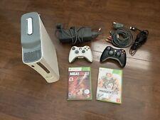 Microsoft Xbox 360 Pro Console - Matte White W/ Component Cables