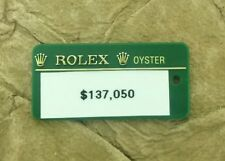 ROLEX Hang Tag Seal Green Price Sticker No String