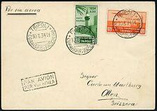 Italienisch-Tripolitanien 1934 Postkarte Luftpost Tripoli nach Olten Schweiz/17