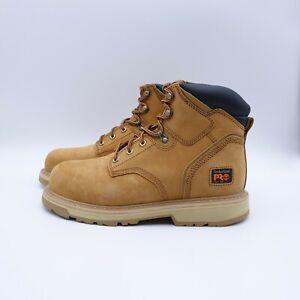 "Size 10.5 WIDE 2E Men's Timberland PRO Pitboss 6"" Steel-Toe Work Boots Wheat"