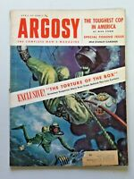 Vtg. ARGOSY Magazine Fiction Fact for Men April 1955 Gardner Frogman 5569