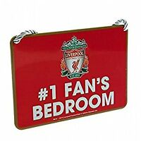 Liverpool FC Official Football Gift Bedroom Sign No1 Fan