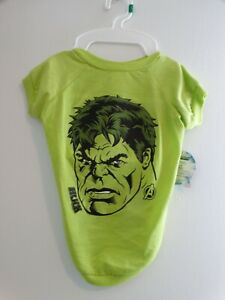 NWT Marvel Comics Green Incredible Hulk Tee Dog Tee L