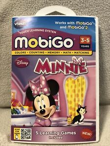 Disney Minnie Mouse Vtech MobiGo 2 - 5 Fun Learning Games Ages 3-5 New Sealed