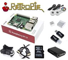RASPBERRY PI 3 Model B RetroPie Game Console Kit, 2 Controlers BMC2837 2.5A 16GB