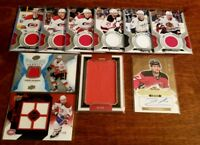 (12 card) 2008-2018 NHL Hockey Autograph & Memorabilia LOT! Gaudreau Dionne +++