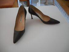 Manolo Blahnik Newcio Brown Leather Pumps Size 7