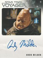 """Quotable Star Trek Voyager - Andy Milder """"Nar"""" Autograph Card"""