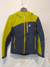 Spyder Jagged Shell Jacket - Men's Small Union Blue/Sulfur Retail $349.95