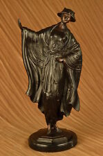 Looking Pretty Sculpture by Louis Icart Bronze Statue on Marble Base Art Deal