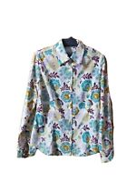 LIBERTY OF LONDON SHIRT SIZE M FLORAL WHITE COTTON LONG SLEEVE BUTTON UP #40A
