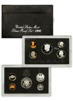 Complete 1996 Silver Proof Set Box 5 Coins Sealed in Original Mint Case