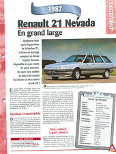 Renault 21 Nevada  1987  France  Car Auto FICHE FRANCE