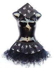 PLUS SIZE 16-22 Dark Pirate Cyber Tutu Bandanna By The Dragon Den Fancy Dress