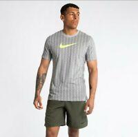 NIKE Men's Dri-FIT Cotton Training Tee Shirt Large ct6468 064 Gray New