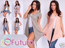 Ladies Elegant Asymmetric Cardigan Jacket Blazer Shrug Bolero Size 8-12 FT282