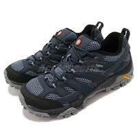 Merrell Moab 2 GTX Gore-Tex Vibram Navy Grey Black Men Outdoors Shoes J12135