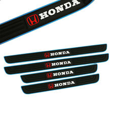 X4 Honda Blue Rubber Car Door Scuff Sill Cover Panel Step Protector For Honda