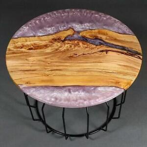 Custom Order Round Decorative Epoxy Table Furniture Resin Epoxy Wooden Walnut