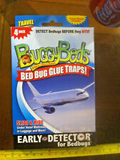 Buggy Beds 4Pack New Glue Traps For Bed Bugs Travel Edition Luggage Hotels