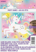 UNICORN PARTY SUPPLIES STICK THE SILVER HORN ON THE UNICORN GAME FOR 16 PLAYERS