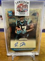 2015 Panini Prizm Devin Funchess Rookie Gold Vinyl Auto 4/5 RC Panthers Rare!!