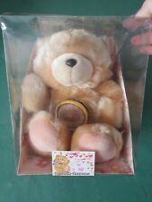 More details for hallmark forever friends soft toy teddy bear with clock