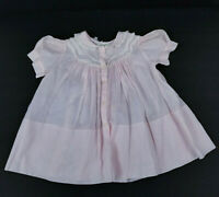 Vintage Feltman Brothers Girls Pink Dress Hand Made Smocked Bishop Dress