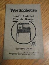 VINTAGE WESTINGHOUSE JUNIOR CABINET ELECTRIC RANGE COOKING GUIDE & INFO~31 PGS.