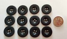 Buttons - 20mm Matching - 12 x Dark Navy - Sewing Knitting - Pack NO 79