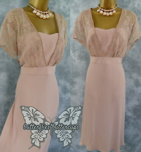 ~ MONSOON ~ Size 18 Beautiful Pink Lace Dress Suit Mother of the Bride Outfit