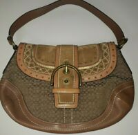 Coach Camel Studded Hobo Bag No G0769-F11517 Brown Purse