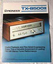 PIONEER TX-8500II FM/AM STEREO TUNER ORIGINAL PROMOTIONAL PRODUCT BROCHURE M892